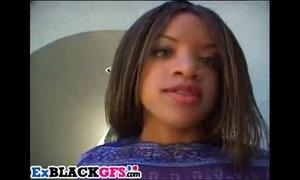 Sweet ebony Tiana has fun with big dongs xVideos