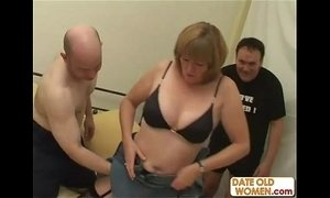 Old grandma pounded and fucked by two old guys xVideos