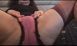 Busty mature with hairy pussy in mini skirt plays with panties and teases xVideos