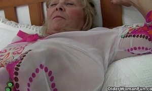 British granny Isabel has big tits and a fuckable fanny xVideos