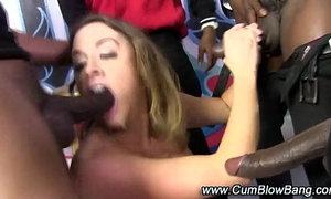 Black cock gang bang blowjobs bukkake