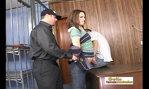 Teen slut gets her freedom by fucking two hung mall cops xVideos