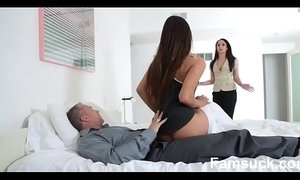 Horny Pretty Stepdaughter Sucks Dick To Skip  school  |FamSuck.com xVideos