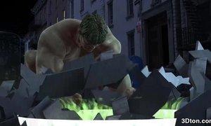 Incredible Hulk fucks blonde babe AnalDin