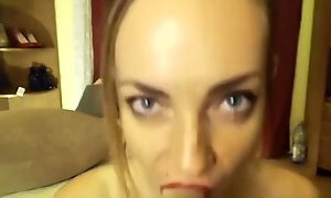 POV deepthroat facefuck on petite skinny romanian slut dirty talker sandrar