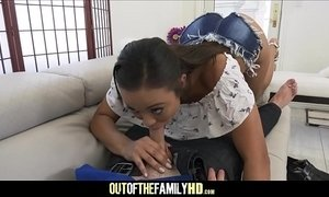 Hot Black Teen Stepdaughter Wants Her White Daddy