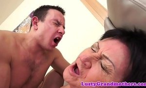 European granny gets creampied after fucking xVideos