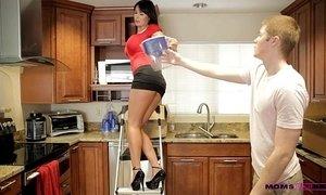 Moms Teach Sex - Her boyfriend jizzed on her moms tits xVideos