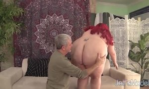 Fat redheaded bitch Jayden Heart fucked good AnalDin
