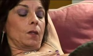 Mom's hairy mature cunt is covered with cumshot after sex with younger guy AnalDin