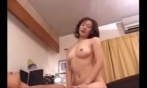 39yr Old Japanese Step Mom Loves Her Sons Cock