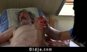 Sexual young care for a poor old man xVideos