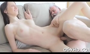 Horny young babe screwed by old lad xVideos