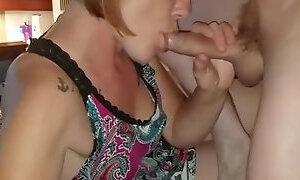 Hot milf gets oral creampie while suckin my cock