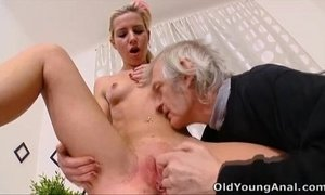 Nelya gets her breasts licked by older man xVideos