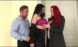 Paige Delight & Shione Cooper baisees par David AnalDin