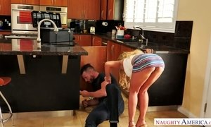 Sex hungry housewife Kayla Kayden is cheating her man with horny plumber