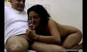 Daughter Massages Father Then Blowjob xVideos