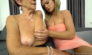 Granny Malya and her much younger friend's fresh pussy xVideos