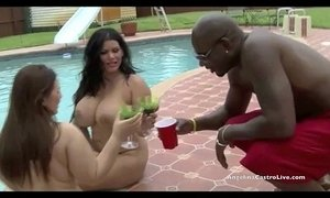 Big titted angelina castro and lexxxi take on massive cock by the pool  xVideos
