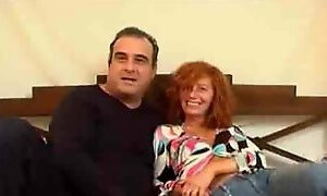 Mature couple fucking like mad for money