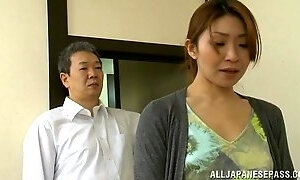 Japanese mom gets her pussy licked and fucked deep