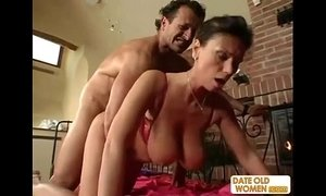 Exotic sexy looking mature gets the cock in her pussy and her mouth xVideos