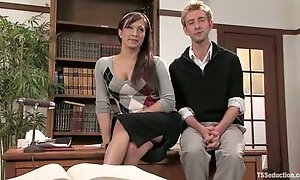 Dean Strong seduces his secretary and finds out that she is a shemale