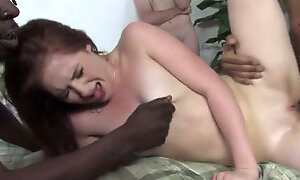 Cameron Love is rammed hard by two BBCs in the presence of cuckold dude