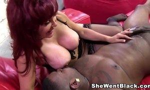Cougar sexy vanessa gets creampied by a big black cock