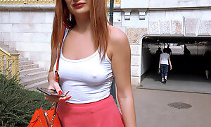 Eva Berger in Feisty Euro Chick On All Fours - PublicPickups