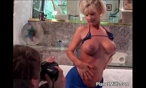 Adorable blonde floozy with massive xVideos