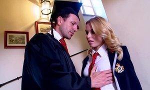 Slutty Student Fucks Her Hot professor on Stairways Beeg