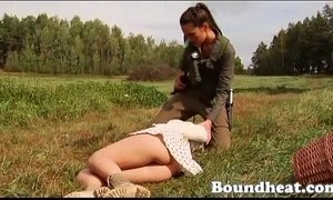 LESBIAN SLAVE HUNTRESS PART ONE  (new) xVideos
