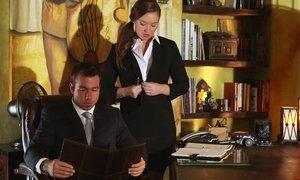 Horny secretary Maddy OReilly