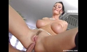 Ass Traffic huge big tits anal fucked and double penetrated xVideos