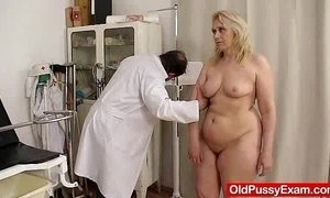 Blond-haired chubby milf explored by cunt doctor xVideos