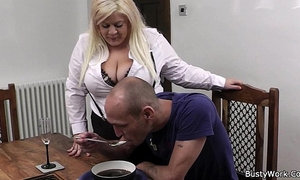Boss bangs hot blonde bbw in stockings xVideos
