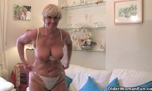 British and voluptuous granny Samantha collection xVideos