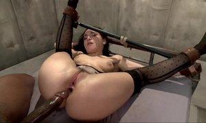 Helpless slutty mom dicked hard anally with black hard long cock