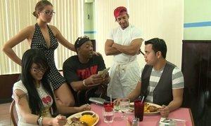 Money Talks crew is running a restaurant Beeg
