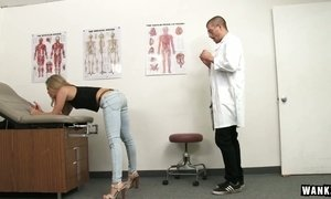 Kinky doctor fucks yummy pussy of sex hungry patient Trisha Parks