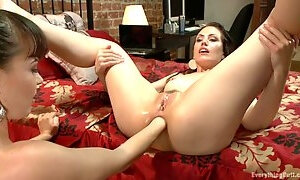 Young mother gets her rosebud fisted and fucked with a huge anal plug
