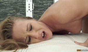 Passionate cums in Angel Blade's mouth after steamy and hot sex AnySex