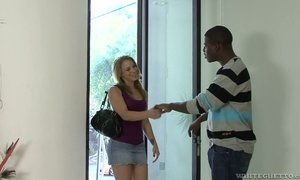Cute white chick Kirra Lynne is fucked by hot blooded BBC AnySex