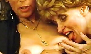Slutty retro German ladies in hot lingerie are fucking hard with young guys
