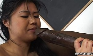 Super hot Asian lady gets a big black cock in her cunt xVideos